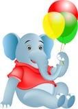 Elefante e balão ilustração do vetor