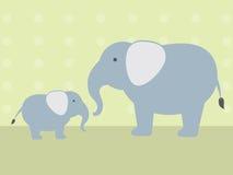 Elefante e bambino Fotografia Stock