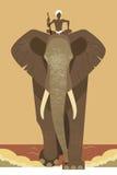 Elefante e mahout illustrazione vettoriale