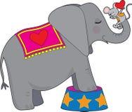 Elefante e mouse Fotografie Stock