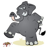 Elefante e rato Foto de Stock