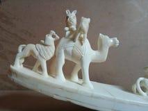 Elefante e tigre do osso da caça Fotos de Stock Royalty Free