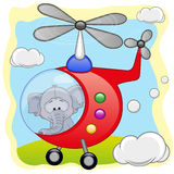 Elefante in elicottero illustrazione di stock