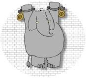Elefante em um Dungeon ilustração royalty free