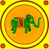 Elefante en amarillo Imagen de archivo libre de regalías