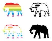 Elefante en el arco iris Fotos de archivo libres de regalías