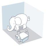 Elefante en el cuarto Fotos de archivo libres de regalías