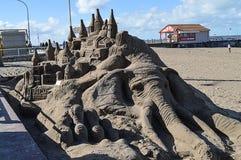 Elefante en la playa Foto de archivo