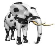 Elefante en piel del gato grande Foto de archivo