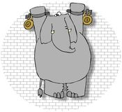 Elefante en un Dungeon Imágenes de archivo libres de regalías