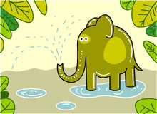 Elefante engraçado Foto de Stock Royalty Free