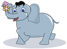 Elefante engraçado Fotos de Stock Royalty Free