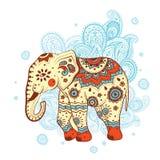 Elefante etnico illustrazione vettoriale