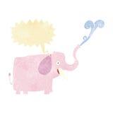 elefante feliz de la historieta con la burbuja del discurso Fotografía de archivo libre de regalías