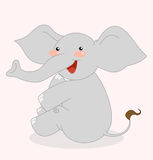Elefante feliz de la historieta linda Imagenes de archivo