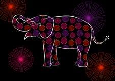 Elefante floral Foto de Stock Royalty Free