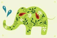 Elefante floreale. fotografia stock