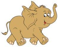 Elefante (grampo-arte do vetor) Foto de Stock
