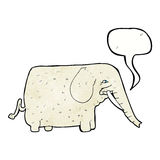 elefante grande de la historieta con la burbuja del discurso Fotografía de archivo