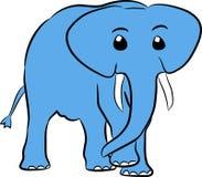 Elefante hermoso del vector Foto de archivo libre de regalías