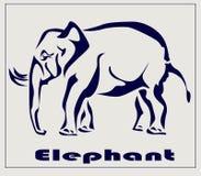 Elefante, icona, tatuaggio. Fotografia Stock