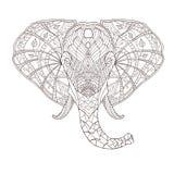 Elefante Illustrazione modellata etnica di vettore Fotografia Stock