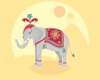Elefante indiano Illustrazione Vettoriale
