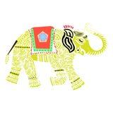 Elefante indiano di vettore Fotografia Stock