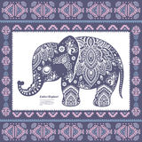 Elefante indiano do vintage fotografia de stock royalty free