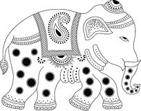 Elefante indio adornado Imagenes de archivo