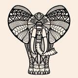 Elefante indio adornado stock de ilustración