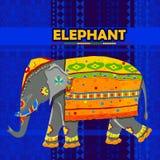 Elefante indio que representa la India colorida libre illustration