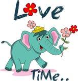 Elefante lindo de la historieta Fotografía de archivo libre de regalías