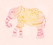 Elefante Mão desenhada Imagens de Stock