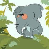 Elefante nella giungla illustrazione vettoriale