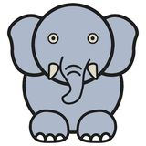 Elefante nello stile del fumetto illustrazione di stock