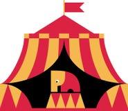 Elefante no circo ilustração royalty free