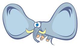 Elefante no vôo Ilustração Royalty Free