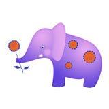 Elefante para felicitações Fotos de Stock Royalty Free