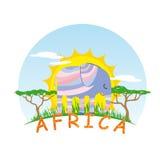 Elefante pieno di sole Immagine Stock