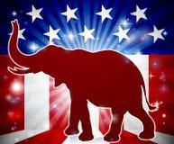 Elefante politico del repubblicano della mascotte Fotografie Stock Libere da Diritti