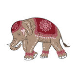 Elefante rosa vector.EPS10 royalty illustrazione gratis