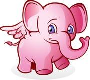Elefante rosado que vuela Fotos de archivo libres de regalías