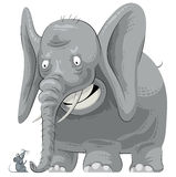 Elefante spaventato che vede mouse Immagine Stock Libera da Diritti