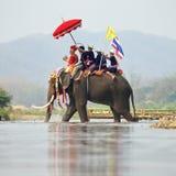 Elefante Sukhothai Fotos de Stock Royalty Free
