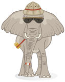 Elefante sul safari royalty illustrazione gratis