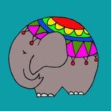 Elefante sveglio isolato, illustrazione grafica Fotografia Stock Libera da Diritti