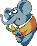 Elefante timido del ragazzo Immagine Stock