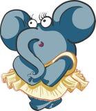 Elefante timido di dancing della ragazza Fotografie Stock