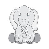 Elefante triste libre illustration